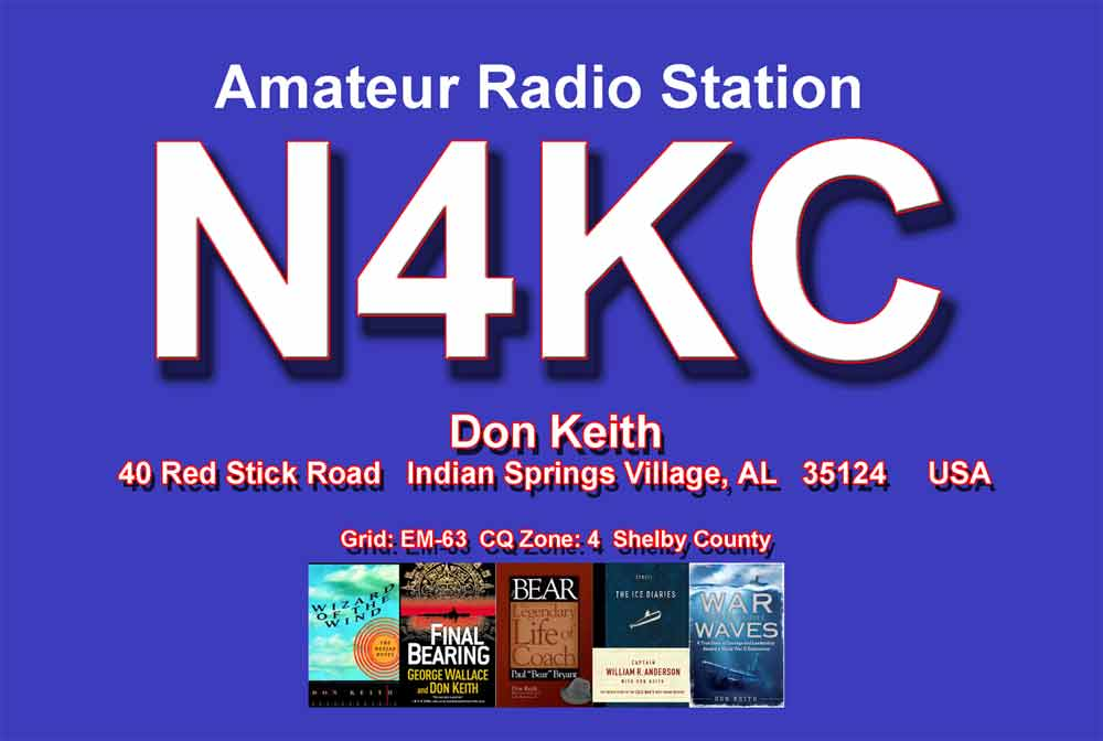 N4KC amateur radio QSL card